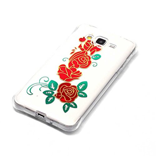 Boxtii® - Cover morbida in TPU per iPhone 6S/iPhone 6, slim fit, antigraffio, antiurto, con pellicola protettiva in vetro temperato in omaggio, PLASTICA, #2 Love, Apple iPhone 5 / iPhone 5s #8 Flower