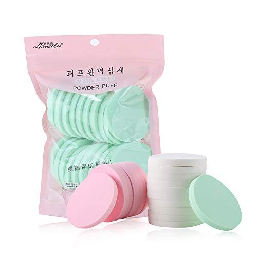 masrin 20 STÜCKE Make-Up Foundation Flüssige Kosmetik Gesichts Schwamm Puff Trocken und Nass Make-Up Schwamm Puff 20 Stück Value Pack (Mehrfarbig)