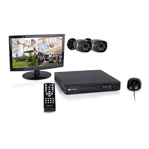 Smartwares DVR528S 8-Kanal Video-Überwachungsset inklusive 500GB Festplatte, Monitor und 2 Farbkameras für den Innen- und Außenbereich
