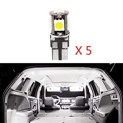 Per C3 Picasso LED Super Luminosi Bianco Lampadine per Luci Interne Auto Per Porte Interne di Auto Luci di Lettura Luci Plafoniera Luce Targa LED Canbus Senza Errori 5 Pezzi