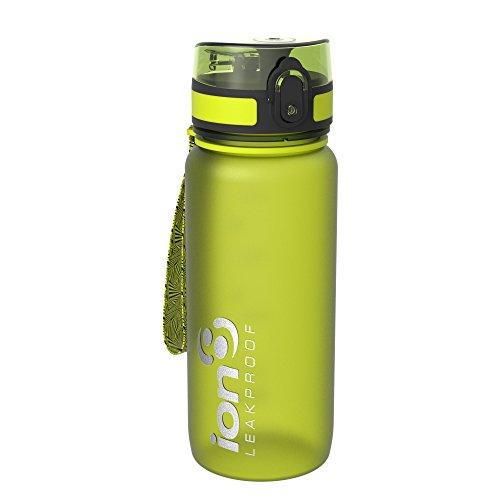 ion8 auslaufsichere Radfahren-Wasserflasche/Trinkflasche, BPA-Frei, 650ml/22oz, Grün