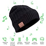 JIANYIJIA Musica Bluetooth Cappello,auricolare bluetooth Cappello Smart Bluetooth Music Hat Wireless per Smart phone iOS e Android (con velluto) Nero