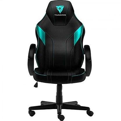 ThunderX3 EC1, silla gaming, tecnología AIR, altura regulable, color cian