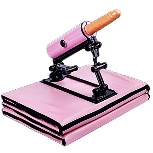 TINGSHOP Automatische Faltpistole Kanone Weibliche Simulation Penis Automatische Stoß Vibrierende Massage Stick Rosa ()