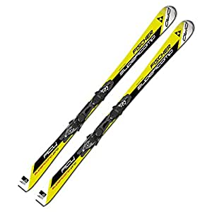 Sci Fischer RC4 super Comp Pro RT on piste Rocker + attacchi RS10 Z10 powerrail, 155 cm