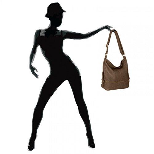 CASPAR TS732 große Damen Umhänge Tasche Khaki