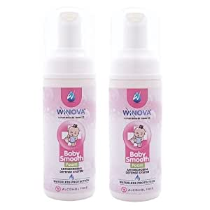 Winova Baby Smooth, Alcohol Free Baby Hand And Body Sanitizer (50ml) Pack Of 2