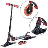 Speeron Kinder-Scooter: Klappbarer 2in1-Tretroller und -Snowkick-Schlitten für Kinder, 125 mm (Roller Kinder)