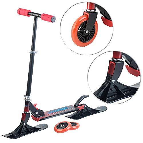 Speeron Roller: Klappbarer 2in1-Tretroller und -Snowkick-Schlitten für Kinder, 125 mm (Scooter-Roller)