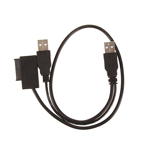 ForU-1 Adapterkabel USB 2.0 auf 7+6 13-Pin Slim für SATA CD/DVD optisches Laufwerk