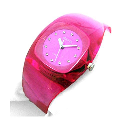 MAVIS Modische Damen Spangen-Uhr Pink 03911030