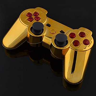 Playstation 3 Controller - Chrome Gold with Red Buttons