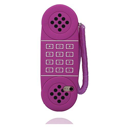 """iPhone 7 (4.7"""") Coque, [téléphone,TPU durable et flexible telephone ] couverture étui pour iPhone 7, iPhone 7 (4.7"""") Case, anti-chocs, des empreintes digitales, les égratignures pourpre"""