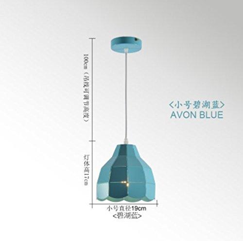 CNUAckl Hänge - Pendelleuchten im nordischen Stil Kronleuchter Kreative Restaurant Lamp Post Moderne Zimmer Bar Kronleuchter, Flügelhorn Blau