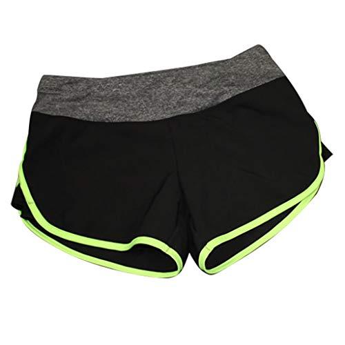 Quaan Damen Sport Shorts Hose Athletic Workout Fitness Yoga Leggings Hosen