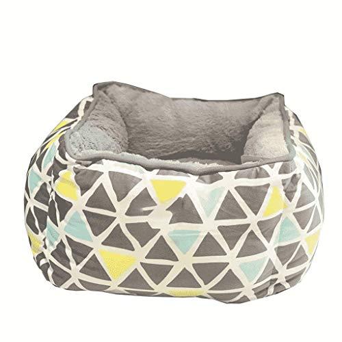 ZXH77f Hundebett mit abnehmbarem, waschbarem Bezug, Kuschel-Haustierbett for kleine, mittelgroße Hunde und Katzen, superweiche und haltbare Haustierausstattung