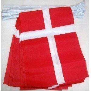 World of Flags Flagge Dänemark 6 m Girlande (Costume World)