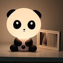icase4u Lámpara de mesa y mesilla de noche simple escritorio moderno dormitorio creativa luz cartoon Kungfu Panda/Skate DJ chico Forma para niños amigos como regalo de Navidad Festival (Kungfu Panda)