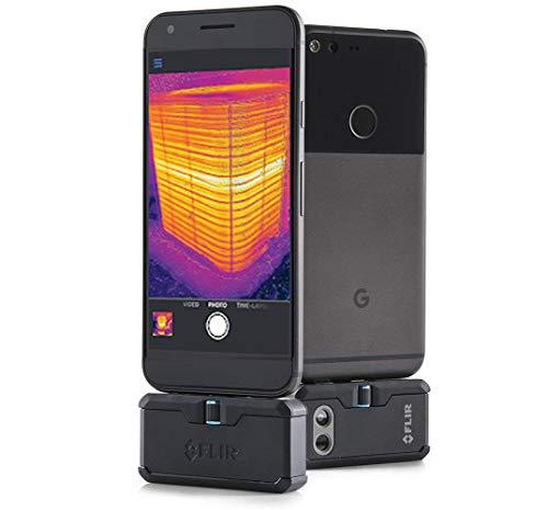 Flir One Pro LT - Cámara de Imagen térmica para Android (resolución 4800 píxeles, VividIR, Conector USB-C) Color Negro