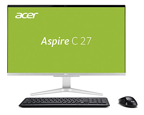 Acer Aspire C27-865 68,58 cm (27 Zoll Full-HD) All-in-One Desktop PC (Intel Core i5-8250U, 8GB RAM, 1.000GB HDD, 256GB SSD, Intel UHD, Win 10 Home) schwarz/silber (In Einem Desktop-computer)