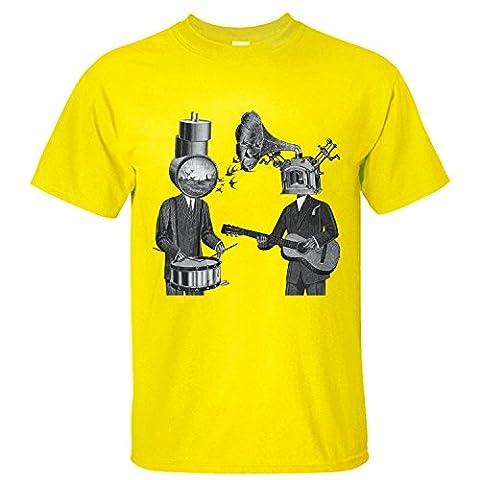 Neutral Milk Hotel Cotton Short-sleeve T-shirt for Homme