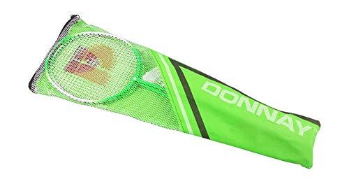 Donnay Badminton-Set Federball Schläger Tasche Strand Camping Garten Spiel Federbälle, Farbe:grün