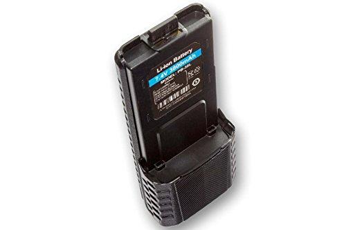 Batteria vhbw Li-Ion 3800mAh (7.4V) per radiotrasmettitore, Walkie Talkie Baofeng UV-5R, UV-5RA Radio, UV-5RE come BL-5.
