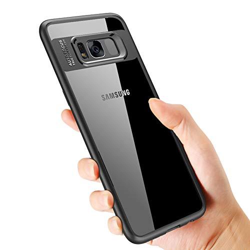vitutech Samsung Galaxy S8 Hülle,Galaxy S8 Schutzhülle Silikon TPU Bumper Case Samsung S8 Handyhülle Ultra Dünn Anti-Fingerabdruck Case Cover für Samsung Galaxy S8, Schwarz