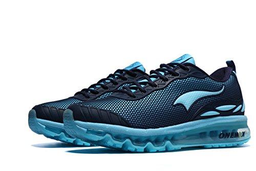 Onemix Sneakers A Cuscino Daria Per Uomo Che Eseguono Scarpe Sportive Con Scarpe Leggere Cuscino Daria Blu