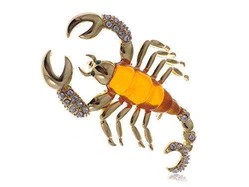 Kostüm Festival Desert - Alilang Scorching Desert King goldenen Ton Insekt Scorpion Kristall Strass-Brosche