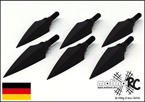molinoRC 6X Stone Jagdspitze | Pfeilspitze | Turnier Jagd Recurve | Compound Bogen Pfeilspitzen | Armbrust BRD