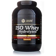 Crown Sport Nutrition ISO Whey Hydrolyzed Proteína de Suero de Leche Hidrolizada, Sabor de Chocolate - 918 gr
