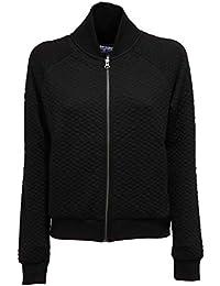 e75724b710 Woolrich 8806Y Felpa Donna Penn-Rich Black Full Zip Bomber Sweatshirt Woman