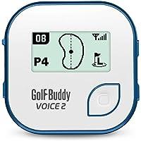 NEW GOLF BUDDY 'VOICE 2' BELT CLIP GOLF COURSE GPS SYSTEM NO FEES EVER BLUE