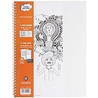 Whitelines enlace papel de 80g/m², A4, páginas a cuadros