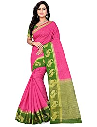 Riva Enterprise Women's Arrival Festival Cotton Silk Pink Color Saree(Riva_220)