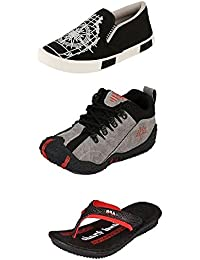 Jabra Perfect Combo Pack Of 2 Shoes- Sneakers And Loafers & Slippers For Men In Various Sizes - B06XVZ52DT