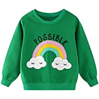 Camiseta de Manga Larga Niños | Niño Niños Bebés Niños Niñas Sudadera Pullover de Dibujos Animados Dinosaurio Top Ropa 2-8 años