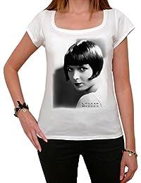 Louise Brooks, tee shirt femme, imprimé célébrité,Blanc, t shirt femme,cadeau