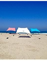 Tienda Neso Carpa de Playa con Ancla de Arena, Canopy Portátil SunShade - 7 'x 7' - Esquinas Reforzadas Patentadas (Teal) - Beach Tent with Sand Anchor