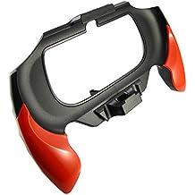 Pandaren PS Vita 2000 PSV slim mano agarre Delgado estuche protector con estructura en el diseño del soporte trasero (rojo)