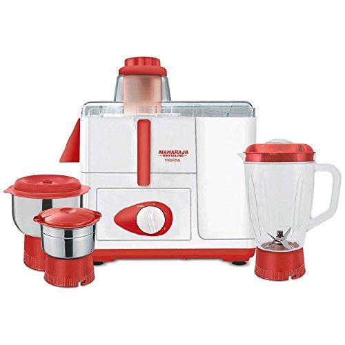 5cf7f7abd6f Buy Maharaja Whiteline Maximo 550W Juicer Mixer Grinder (Red   White ...
