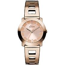 s.Oliver Damen-Armbanduhr XS Analog Quarz Edelstahl beschichtet SO-2917-MQ