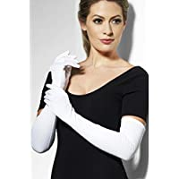 Smiffys guanti, 52cm–bianco, lungo