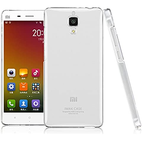Funda Xiaomi 4 M4 Mi4, IMAK Transparente Clear Plastic Hard Cover Case carcasa de piel, Durable Nano Coating Processed, Ultra Delgado & Ligero [Anti Sctrach] [Yellowing Proof]