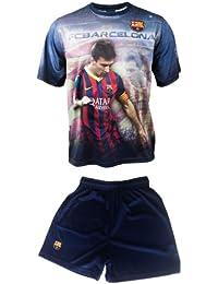 Maillot + short Lionel MESSI - N°10 - Barça - Collection officielle FC BARCELONE - BARCELONA - Taille enfant garçon