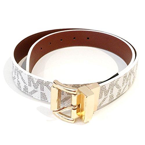 21f1b21b31e9 ... netherlands michael kors new genuine womens vanilla gold reversible mk  logo belt medium buy online in
