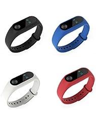 Xiaomi Mi Band 2 Armband Pinhen Silikon Ersatz Armband Bracelet Handgelenk Band Metall Leder Gurt für Mi Band 2 Smart MiBand Ersatz-Zubehör