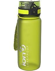 Ion8, Bottiglia per l'acqua, a prova di perdite, senza BPA., Unisex, Verde (Frosted Green), 650 ml ( 22oz )