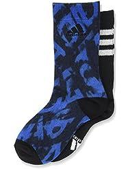 adidas AY6551 - Calcetines para niños, Multicolor (Blue/Collegiate Navy/Black/White ), 27-30, pack de 2